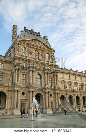 Paris, France - November 27, 2009:  Facade Of The Royal Louvre Palace. Now Louvre Is One Of The Larg