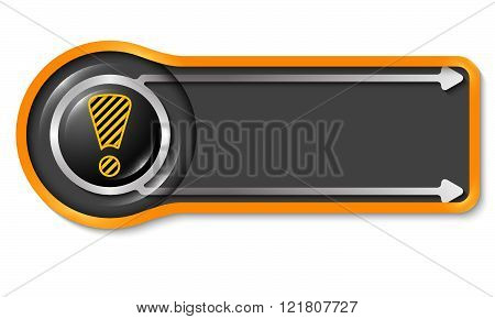 Vector object for your text and striped exclamation mark