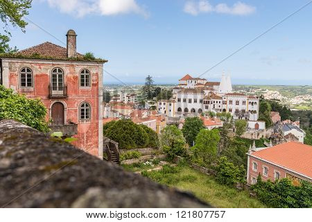 Old Buildings And Houses In Sintra, Portugal