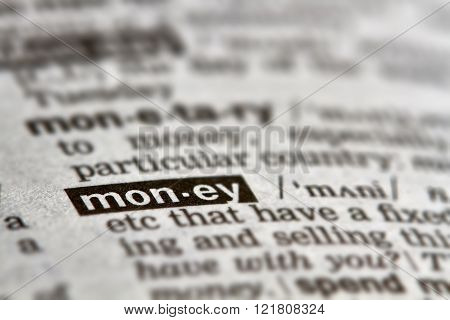 Money Word Definition Text