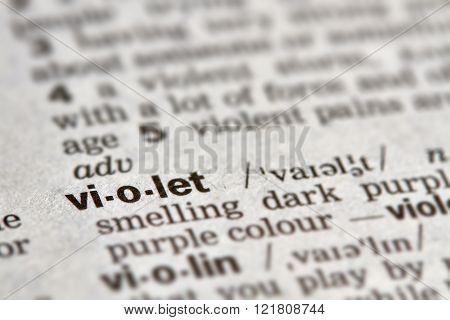 Violet Word Definition Text