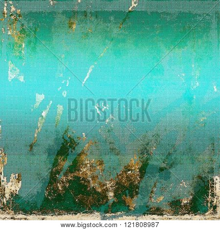 Abstract vintage background with faded grungy texture. With different color patterns: yellow (beige); brown; green; blue
