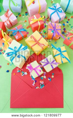 Colorful presents
