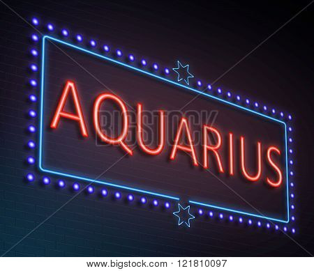 Aquarius Sign Concept.