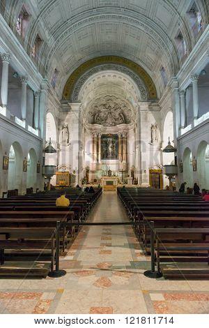 Interior Of Sanctuary  Of Fatima, Estremadura, Portugal