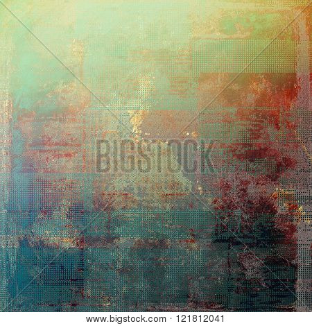Ancient texture or damaged old style background with vintage grungy design elements and different color patterns: yellow (beige); green; blue; red (orange); purple (violet)