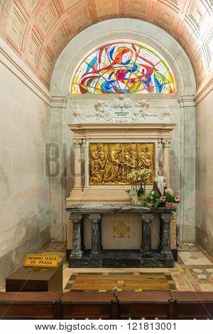 Stations Of The Cross (via Crucis) Inside Sanctuary  Of Fatima