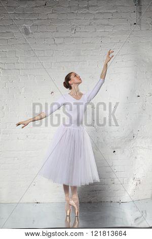 Ballerina in white