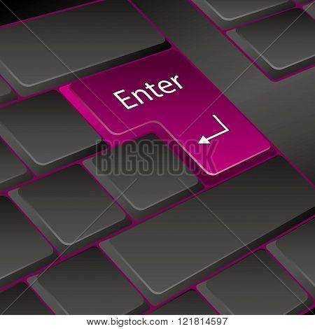 vector keyboard. key enter