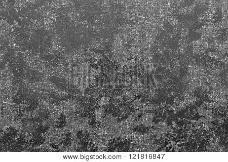 Abstract Spotty Texture Fabric Of Gray Color