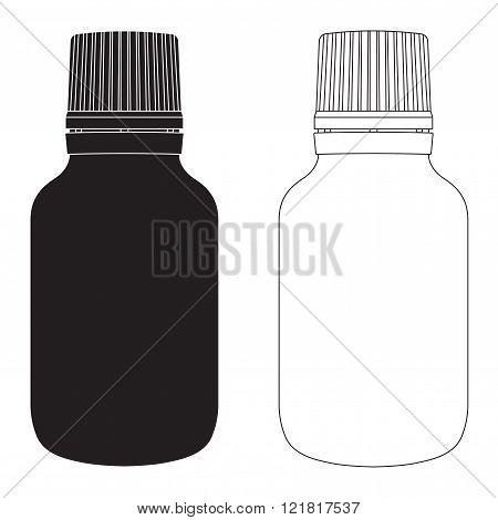 Pills bottle. Medical box.