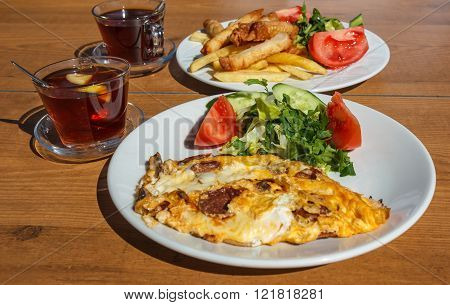 Traditional Turkish Breakfast Outdoor