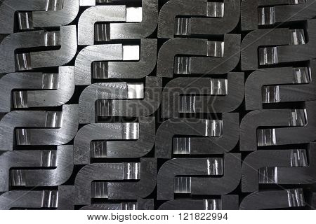 abstract of metal with variety shape for background used
