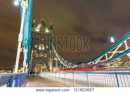 Night View Of Tower Bridge In London