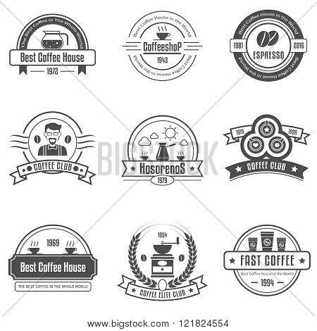Coffee House Emblems Set