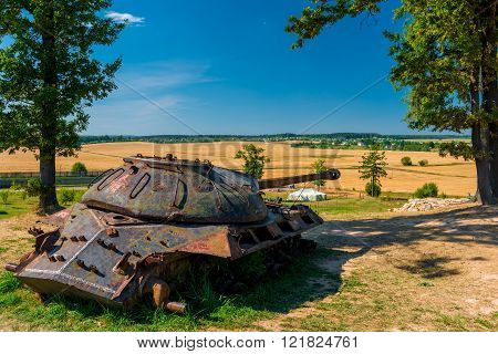 Heavy Military Tank Is-3 Rusty In The Field