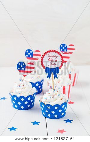 Independence day cupcakes