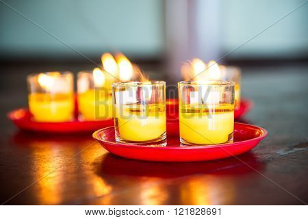Yellow Candle Glass