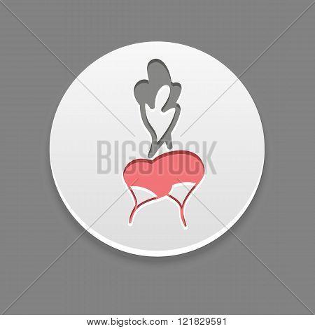 Radish Icon. Vegetable Vector Illustration