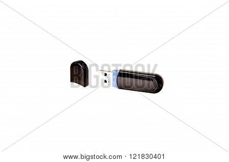 Usb Stick Or Flash Drive On White Background