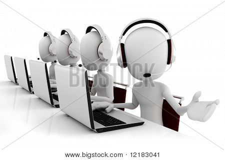 3D Mann Call-center