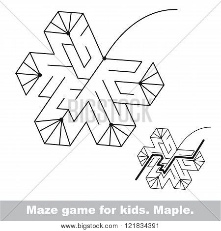 Autumn maze game. Search the way. Help to fihd the solution. Kid labyrinth game.