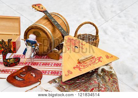Balalaika and other products of Russian folk art