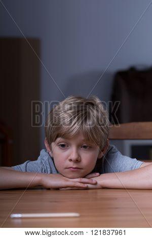 Depressed Lonely Schoolboy