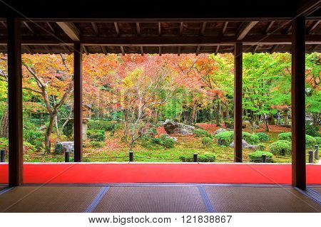 Autumn Foliage At Enkoji In Kyoto