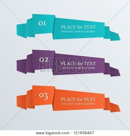 Set Of Design Elements Banners Ribbons.