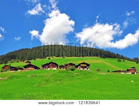 Small swiss village in the bernese Alps