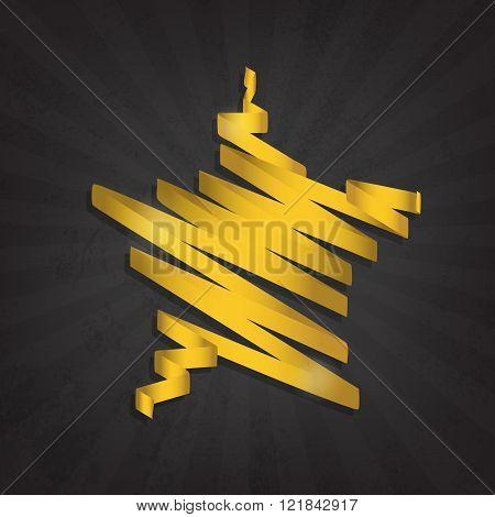 Gold Star Gloss Ribbon