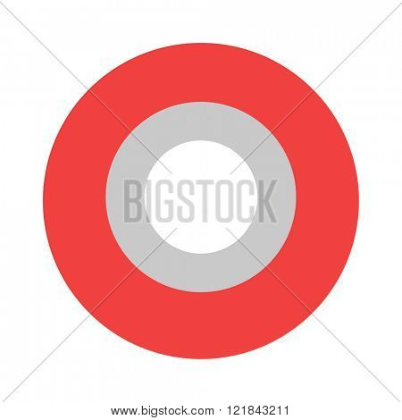 Roll of red insulating vector tape isolated on a white background.