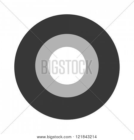 Roll of black insulating vector tape isolated on a white background.