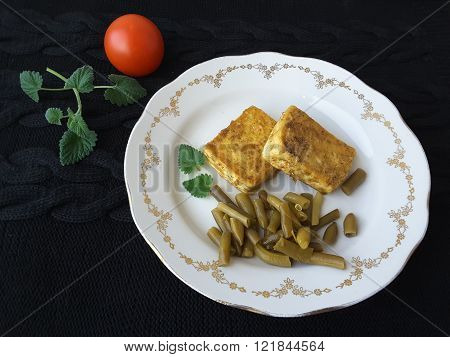 Tofu With Spices, cooking healthy food for a vegetarian diet