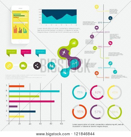 Set Of Timeline Infographic Design Templates.