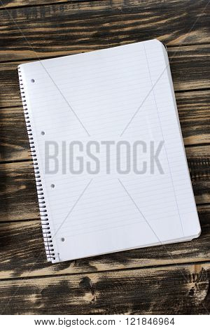 Notepad, Notebook On Wooden Desk