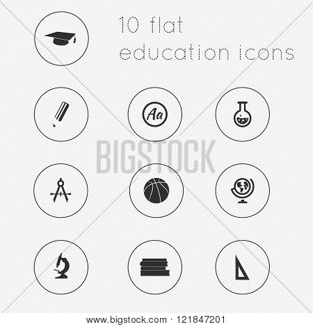 Modern Flat Icons Vector Collection Of Education Theme.
