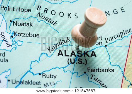 Alaska Marked On A Map