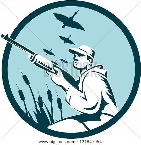 Duck Hunter Rifle Circle Retro