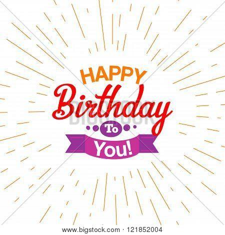 Happy birthday Typography card