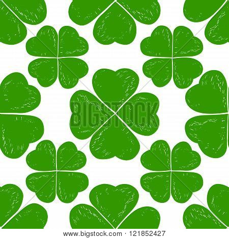 St. Patricks day seamless background