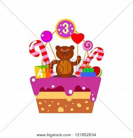Cake on third Birthday