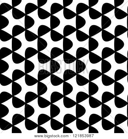Vector modern seamless geometry pattern triangle black and white abstract