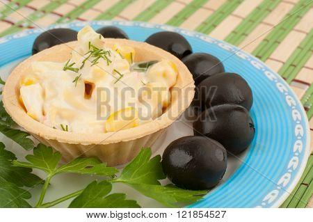 Tartlets With Salad And Olives