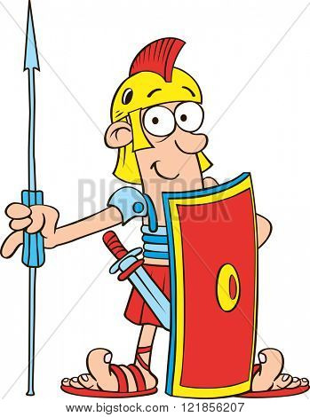 Vector Illustration of Roman Legionnaire