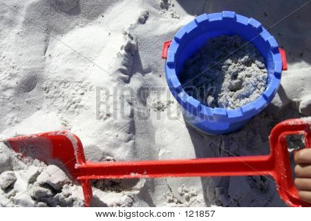 Sand Bucket And Spade