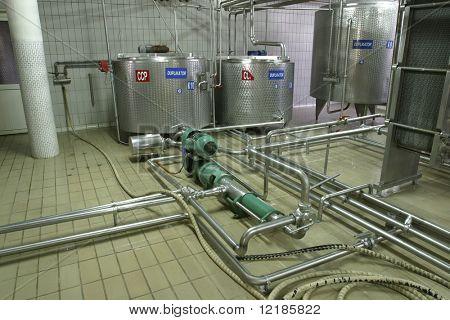 acero inoxidable temperatura controlada tanques de presión y válvulas en fábrica