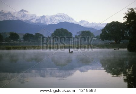 Sunrise Mist On Lake Pokhara18172A