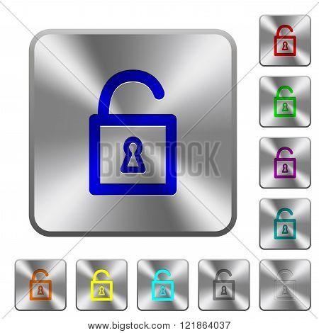 Steel Unlocked Padlock Buttons